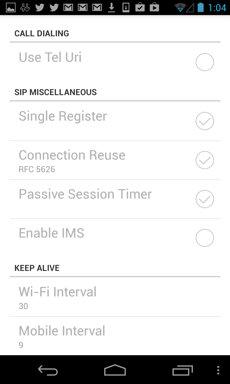 Bria for Android – OnSIP Support